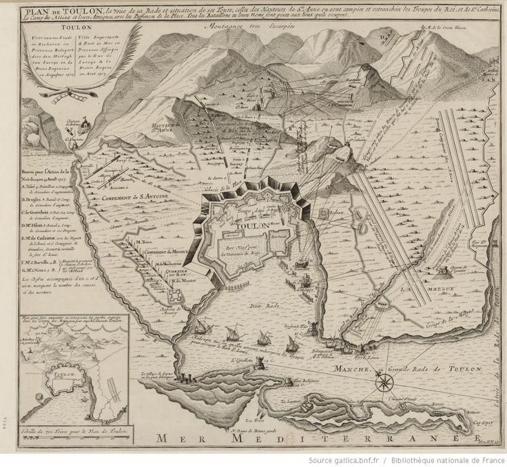 Plan de Toulon, la veue de sa rade et situation de ses Tours, celles des…