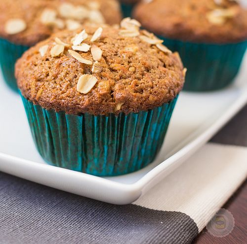 Super Moist and Healthy Carrot Cake Muffins Final Shot 2 Cropped by littlespicejar, via Flickr