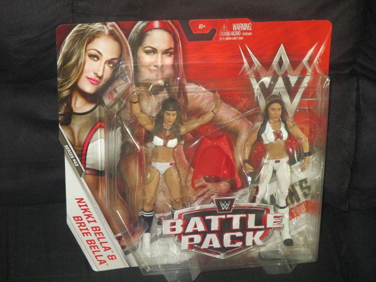 WWE Nikki & Brie Bella Twins Mattel Series 43 Battle Pack Figures-NIB VHTF  #Mattel