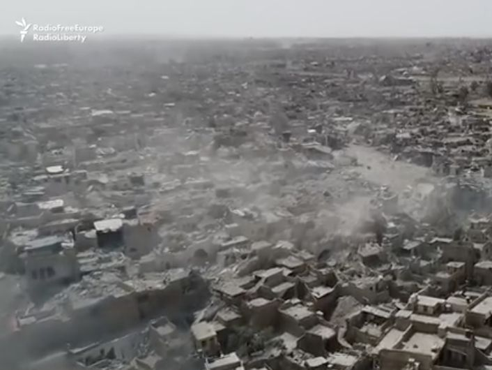 Dramatic drone footage shows what Mosul looks like after 3 years of ISIS occupation - On Sunday, Iraqi Prime MinisterHaider al-Abadi declared victory in Mosul, ending a grueling eight-month campaign against ISIS in the country's second largest city.  About 915,000 people have fled Mosul since the battle began in October 2016, and thousands more were killed at the hands of ISIS and US coalition airstrikes.  Now the city liesin utter ruin after years ofISIS attacks and US-led coalition…
