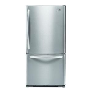 LG 22.4 cu. ft. bottom freezer refrigerator in stainless steel $1,199.00