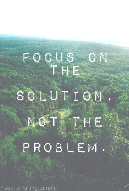 Always focus on the solution x
