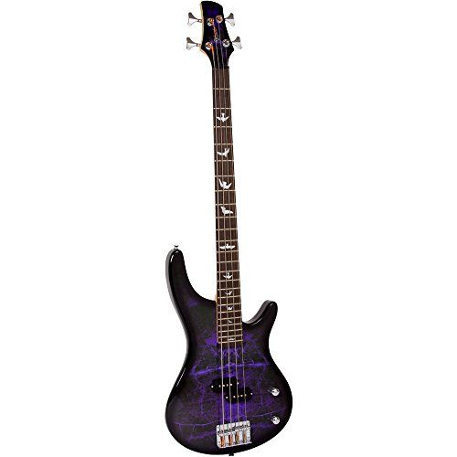 Lindo+PDB+Series+Purple+Dove+Electric+Bass+Guitar+With+Carry+Case+and+Cable