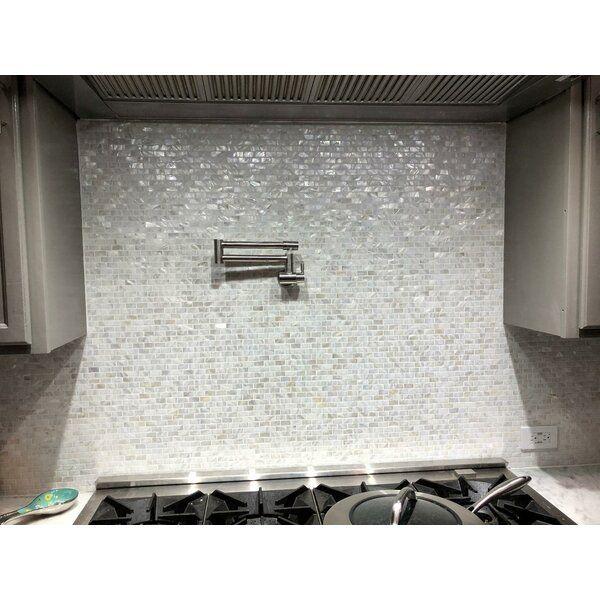 0 6 X 1 2 Seashell Mosaic Tile In 2021 Glass Mosaic Tiles Shell Mosaic Tile Mosaic Tiles