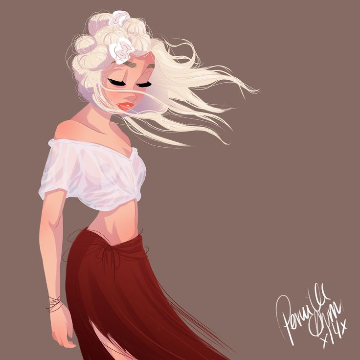 Girl in the wind by pernille