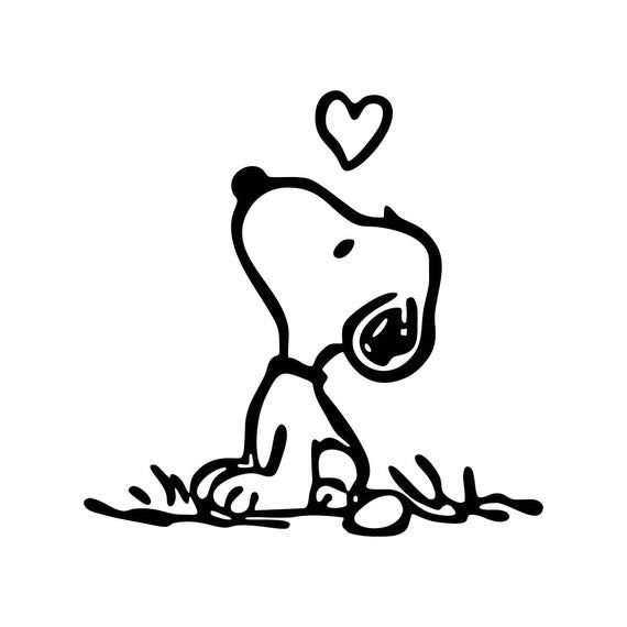 Snoopy Love Graphics SVG Dxf EPS Png Cdr Ai Pdf Vector Art Clipart instant download Digital Cut Print File Cricut vinyl heart