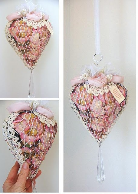 Potpourri heart - shabby chic idea