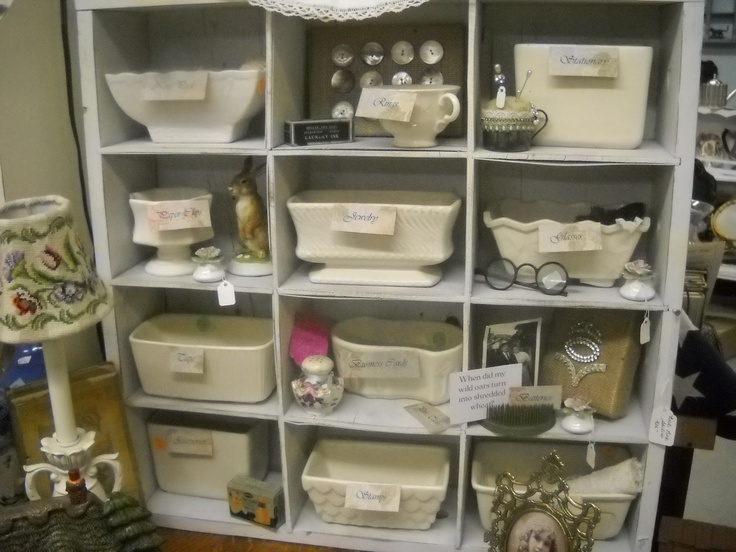 Planters as organizers: Shabby Chic, Studios Ideas, Chic Cottages