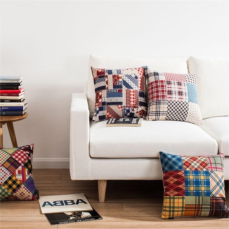 クッションカバー 抱き枕カバー 枕カバー 北欧 リネン 縞柄 4点