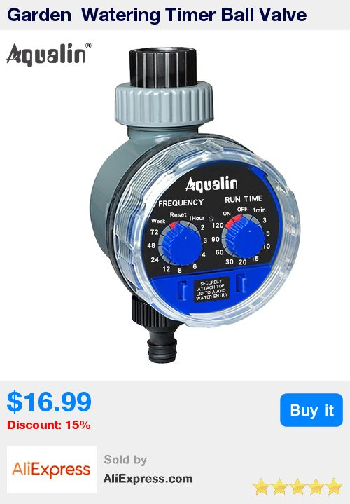 Garden  Watering Timer Ball Valve Automatic Electronic Water Timer Home Garden Irrigation Timer Controller  System #21025 * Pub Date: 21:12 Oct 19 2017