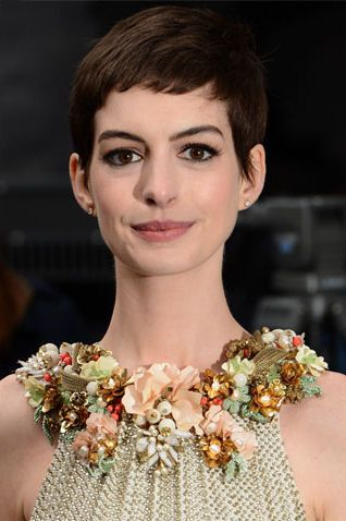 Floral Neckline Detail of the Halter Gucci Gown sported by Anne Hathaway