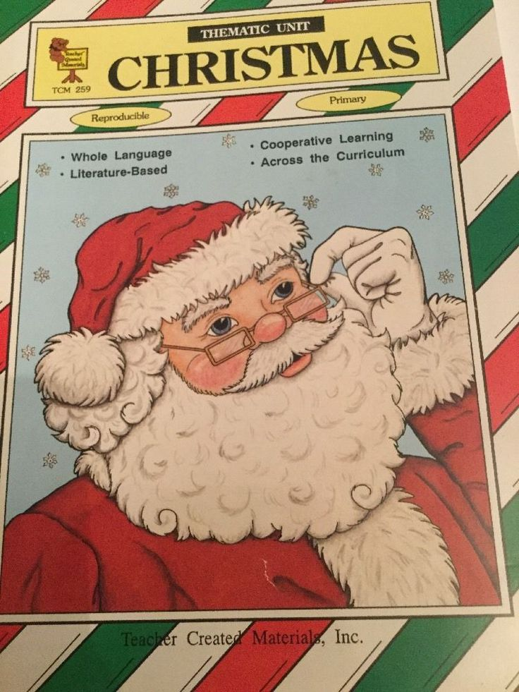 Christmas Thematic Unit Teacher Created Materials TCM Primary #WorkbookStudyGuide
