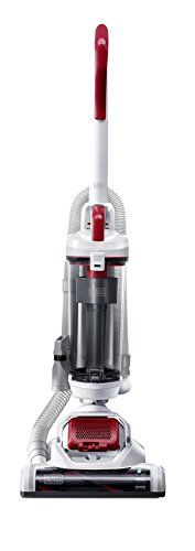 The BLACK+DECKER AIRSWIVEL Ultra Light Weight Upright Vacuum Cleaner Pet features 170-degree swivel steering. Unlike traditional vacuums which typically require two separate motors to accommodate swi...