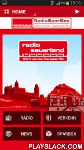 Radio Sauerland  Android App - playslack.com ,  Erleben Sie die völlig neue App von Radio Sauerland für Ihr Smartphone! Wir bieten Ihnen damit auch unterwegs den besten Service, lokale Informationen und natürlich den besten Mix.- Hören Sie sich die aktuelle Ausgabe unserer Lokalnachrichten an oder lesen Sie die neuesten Meldungen aus der Radio Sauerland-Nachrichtenredaktion- Lesen Sie die aktuellen Blitzermeldungen und schicken Sie selbst die neusten Blitzer-Standorte direkt ins Sendestudio…