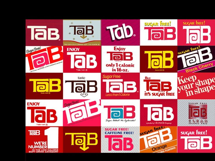 Tab Cola Old Logo | up wet and tab reads for beautiful people tab then
