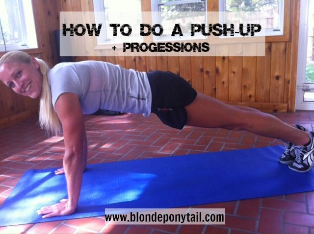 how to do a pushup - proper form and progression @blondeponytail #getafterit @Reebok