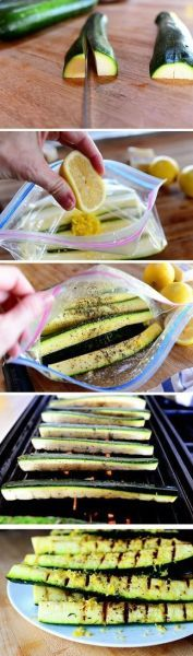 Grilled Zucchini with Yummy Lemon Salt