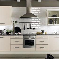 White brick tiles With black grout  Kitchen  Pinterest  Dark