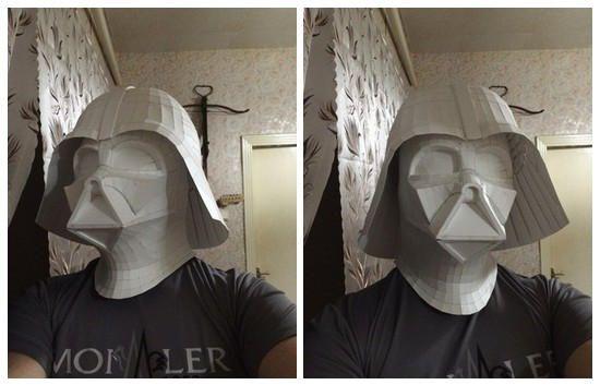 Star Wars - Life Size Darth Vader Helmet Papercraft Ver.4 Free Template Download