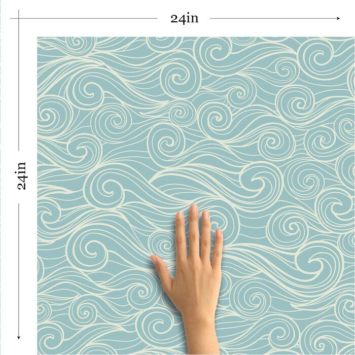 Kyson Fish Nautical Removable Peel And Stick Wallpaper Panel Nautical Wallpaper Whale Pattern Marine Plants