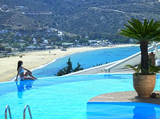Enjoy the swimming pools of Levantes Boutique Hotel... #summer #summer_love #ios #ios_island  #greece