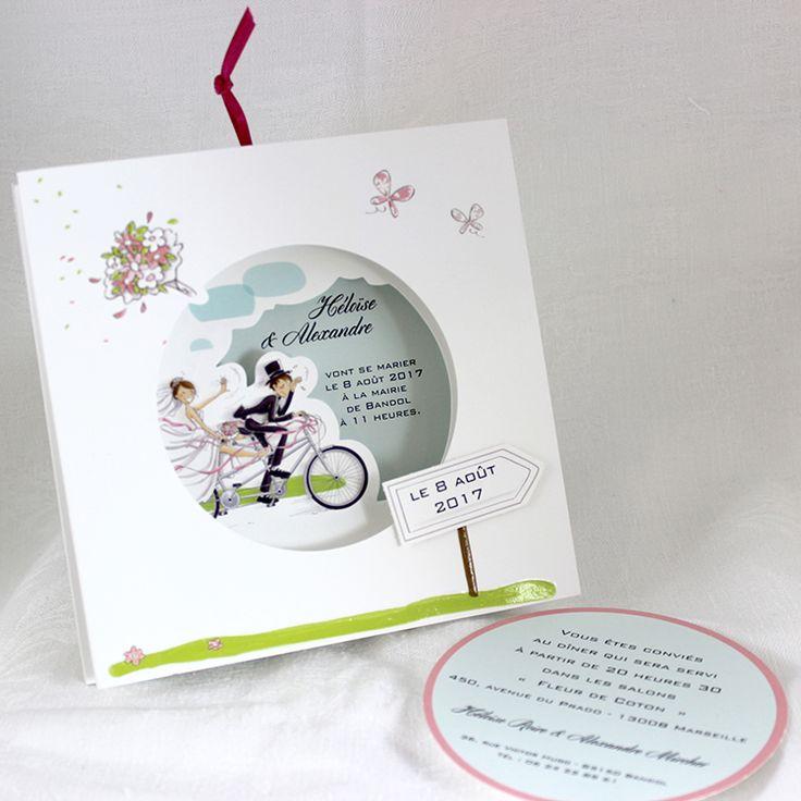 Bien-aimé 47 best Faire-part de mariage images on Pinterest | Invitations  JG19