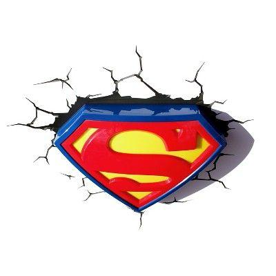 Warner Bros 3D Wall Nightlight Superman,