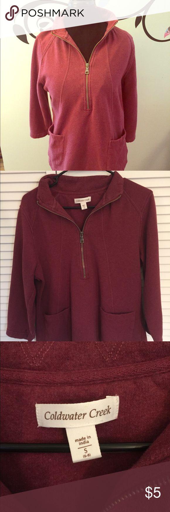 🆕EUC Coldwater Creek Maroon Half-Zip Sweatshirt 🆕EUC Coldwater Creek Maroon Half-Zip Sweatshirt. Size Small but would definitely fit a Medium also. Coldwater Creek Tops Sweatshirts & Hoodies