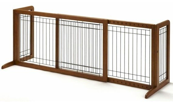 Large Bay Isle Freestanding Dog Gate - Tall