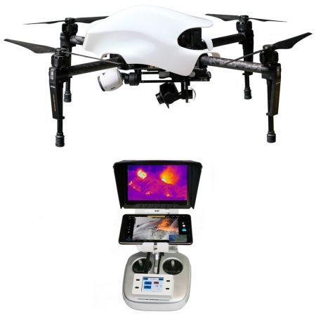 "Pachet ready-to-fly, drona DJI Matrice 100 + camera termica FLIR TAU2 640, lentile 13 mm + DVR recorder + Tableta 7"" configurata + Controler tactil LCD, T12 professional FIR – Lumea Gadgeturilor"