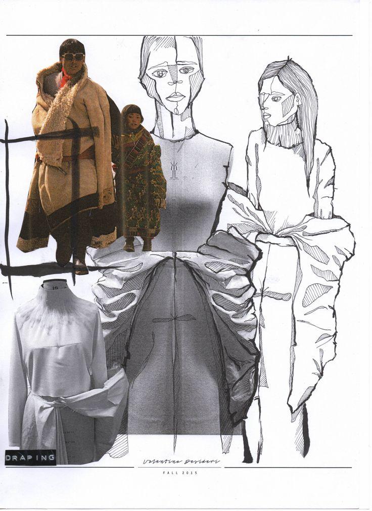 Fashion Sketchbook - fashion sketches & draping development; creative…