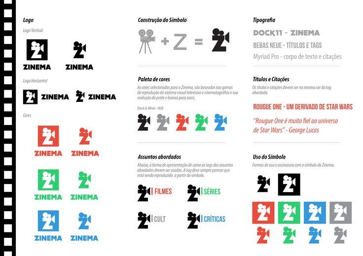 Construção de marca para o site zinema.com.br