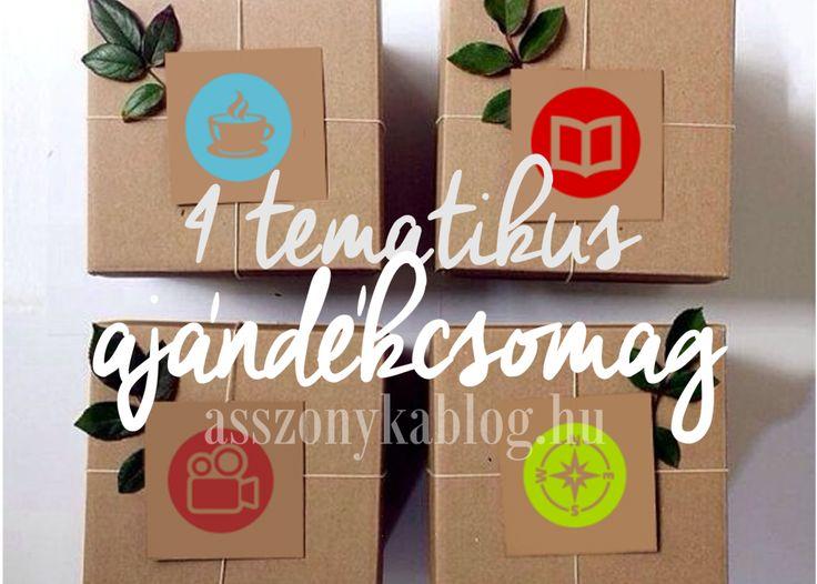 4 tematikus ajándékcsomag, four themed giftboxes