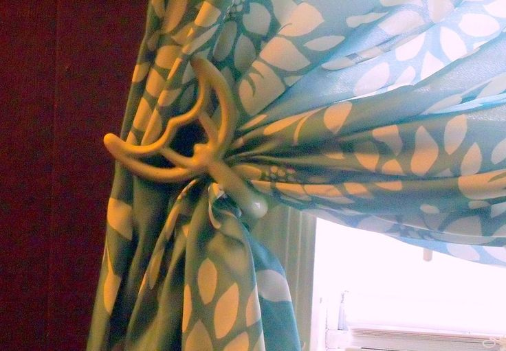 Old Ceiling Fan Blade Brackets Turned Curtain Tie Backs