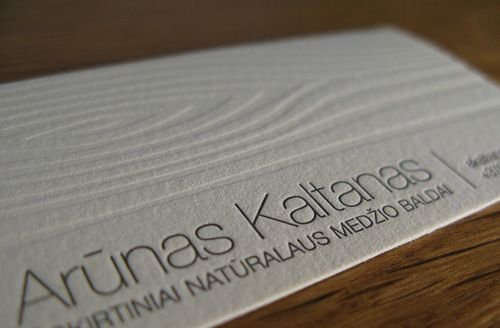 Wood grain plate for furniture designer's business cards. Could be a 'mighty oak' idea here...