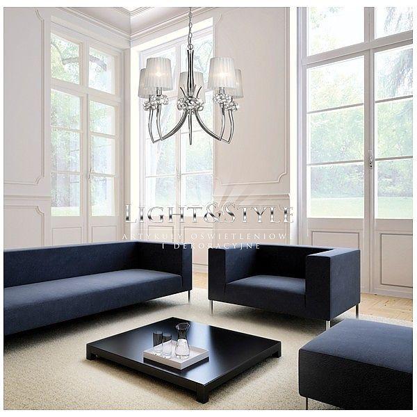 Mantra LOEWE lampa wisząca 5L 4631 chrom - Sklep Light & Style