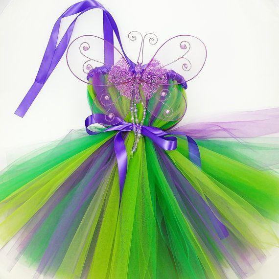 Fairy Princess Tutu Dress with Wings, Fairy Dress, Fairy Costume, Birthday Tutu Dress, Fairy Party, Dress Up, Kids Costumes, Halloween