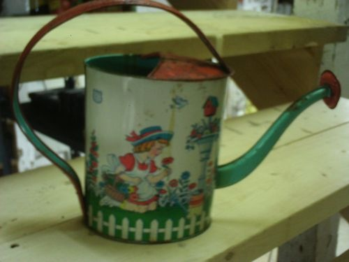 Child's Vintage watering can: Pail Sifter And Sprinkles, Pails Sifters And Sprinkles, Sands Pails Sifters And, Sands Pail Sifter And, Vintage Water, Watering Cans, Kids Shovels Buckets Wat, Water Cans, Kids Shovel Buckets Wat