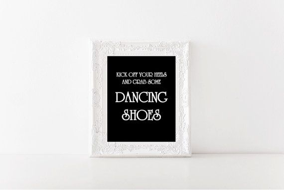 Dancing Shoes printable wedding sign