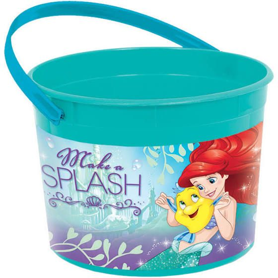 Little Mermaid Plastic Favor Container (Each) - Party Supplies