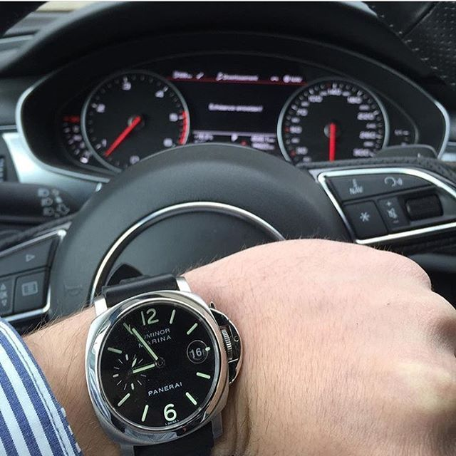 Instagram médias par instagram_watches - Panerai Luminor & Audi A7  mon bon ami @ gma045  #panerai #rolex #audemarspiguet #tissot #hublot # luxury4play #billionairetoys #dailywatch #watchporn #cartier #hermes #louisvuitton #gq #menwithclass #menwithfashion #picoftheday #instagram_watches #bestoftheday #igdaily #iphoneonly #bugatti #ferrari #lamborghini #rollsroyce #porsche #luxury #like #FOLLOW #workhardplayhard #richclub