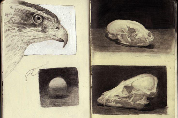 Moleskin studies, Ville Sinkkonen on ArtStation at https://www.artstation.com/artwork/6R106