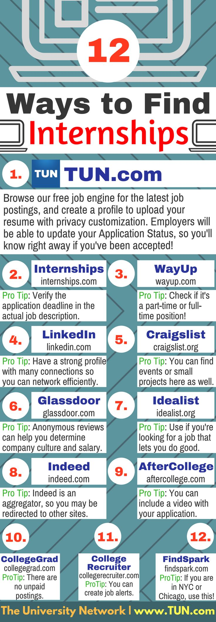 These are some of the best tools you can use to find your next internship!