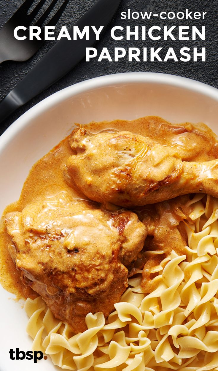chicken gets smothered in a classic Hungarian paprika and sour cream ...