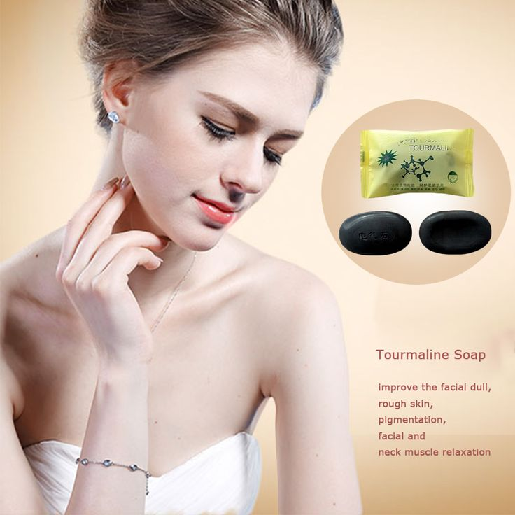 Carvão vegetal de bambu Turmalina energia ativa Sabão anti bacteriana Concentrados de enxofre soap Para Face & Body Beauty Care Saudável