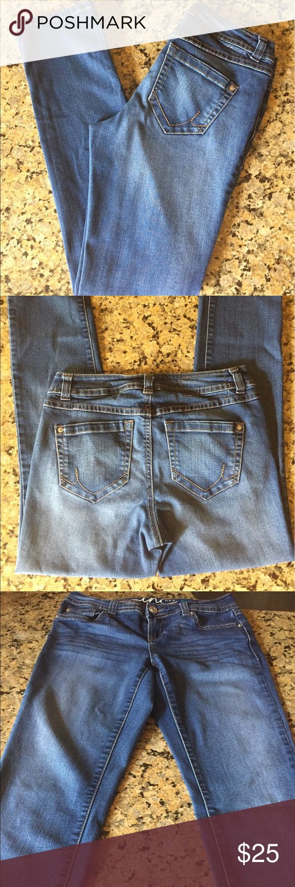 """INC Curvy Skinny Jeans INC Skinny Curvy Jeans. Excellent Condition. Medium Wash. Size 4. Approx 7 1/2"""" Rise & 30"""" Inseam. INC International Concepts Jeans Skinny"""