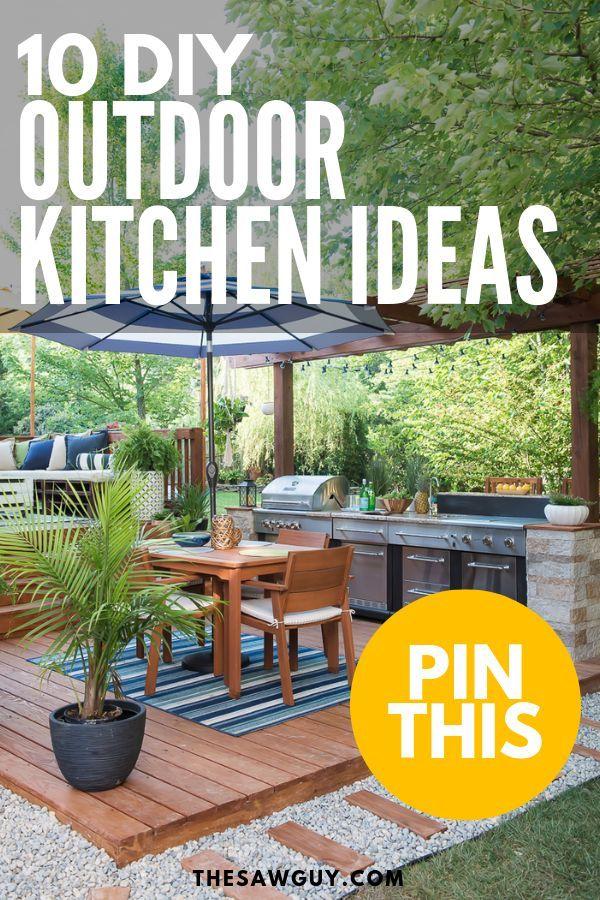 10 Diy Outdoor Kitchen Ideas The Saw Guy Diy Outdoor Kitchen Diy Outdoor Outdoor Kitchen