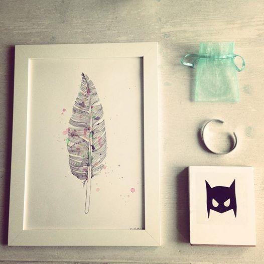 Schilderij lijstje & Batman