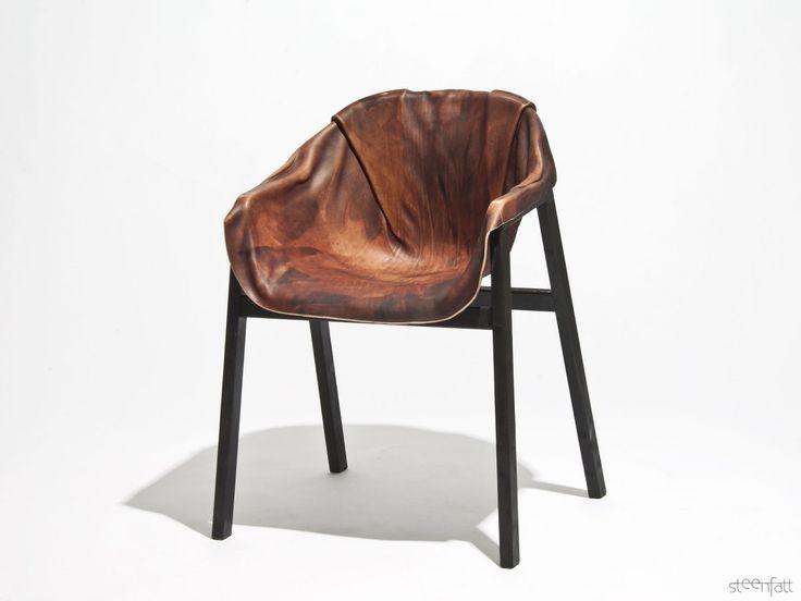Hardened leather chair by Steenfatt