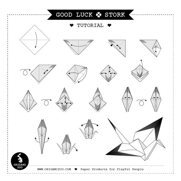Good luck origami pad mustard - Origami Zoo